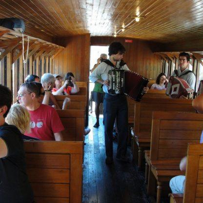 Historic train in Douro train line